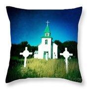 San Patricio Church IIi Throw Pillow