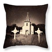 San Patricio Church IIi Sepia Throw Pillow