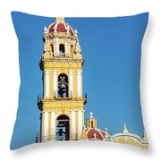 San Pedro Church Tower Throw Pillow