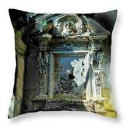 San Rocco Chapel Ruins - Cappella San Rocco Rovine Throw Pillow