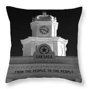 San Saba Couthouse Throw Pillow