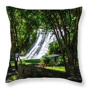 San Saba Waterfall Throw Pillow