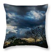San Salvador Sunset 5 Throw Pillow