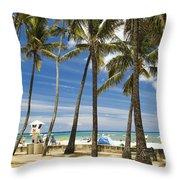 San Souci Beach Throw Pillow