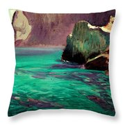 San Vicente Cove Mallorca Throw Pillow