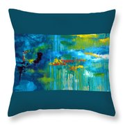 Sanctuary Abstract Painting Throw Pillow