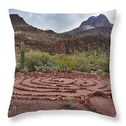 Sanctuary Cove Labyrinth Throw Pillow