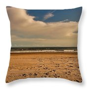 Sand And Clouds Throw Pillow