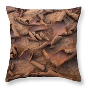 Sand And Mud Curls Throw Pillow