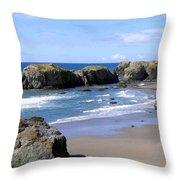 Sand And Sea 11 Throw Pillow