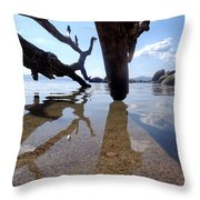 Sand And Shadows Throw Pillow