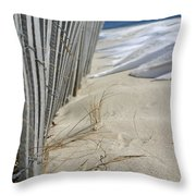 Sand And Snow Throw Pillow