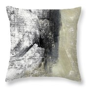 Sand And Steel- Abstract Art Throw Pillow