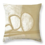Sand And Stone 1- Contemporary Abstract Art By Linda Woods Throw Pillow by Linda Woods