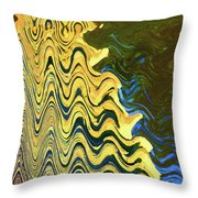 Sand At The Beach Abstract Throw Pillow