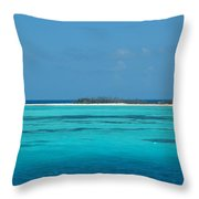 Sand Bar Island Throw Pillow