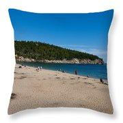 Sand Beach Acadia National Park Throw Pillow