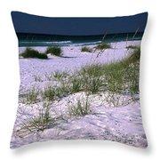 Sand Beach And Grass Throw Pillow