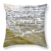 Sand Beach And Wave 4 Throw Pillow