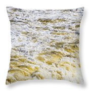 Sand Beach And Wave 5 Throw Pillow