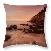 Sand Beach At Sunrise Throw Pillow