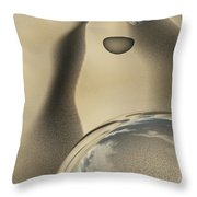 Sand Bubbles Throw Pillow