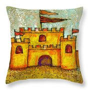 Sand Castle Throw Pillow