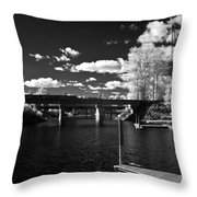 Sand Creek In Infrared Throw Pillow