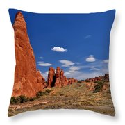 Sand Dune Arch 4 Throw Pillow