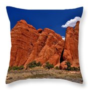 Sand Dune Arch Throw Pillow