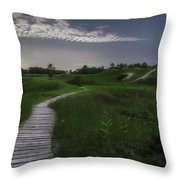 Sand Dune Board Walk Throw Pillow