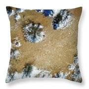 Sand Dune With Snow Throw Pillow
