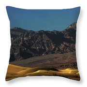 Sand Dunes - Death Valley's Gold Throw Pillow