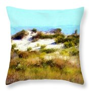 Sand Dunes Assateague Island Throw Pillow