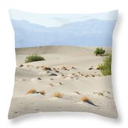 Sand Dunes Plants Hills Throw Pillow
