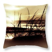 Sand Dunes Sunset Throw Pillow