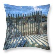 Sand Fence Throw Pillow