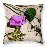 Sand Flowers Throw Pillow