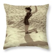 Sand Horse Throw Pillow