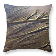 Sand Patterns Throw Pillow
