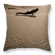 Sand Plank Throw Pillow
