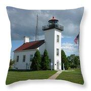Sand Point Lighthouse Throw Pillow