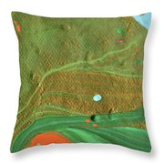 Sand Storm Comes Throw Pillow