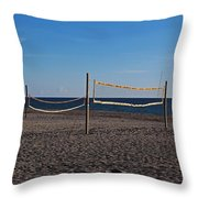 Sand Volleyball Throw Pillow