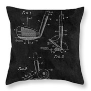 Sand Wedge Patent Throw Pillow