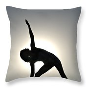 Sand Yoga Throw Pillow