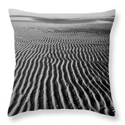 Sandbar Patterns Throw Pillow