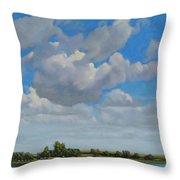 Sandbar Slough July Skies Throw Pillow