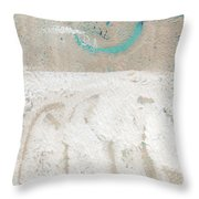 Sandcastles- Abstract Painting Throw Pillow