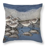 Sanderlings Throw Pillow